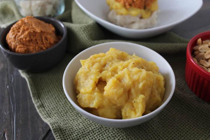 Yellow banana dish - Matooke