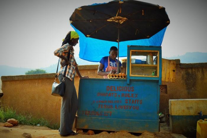 rolex stand in uganda street food