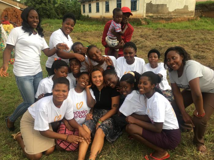 Group of friends in Uganda